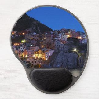 Mouse Pad De Gel Cinque Terre Italia na noite