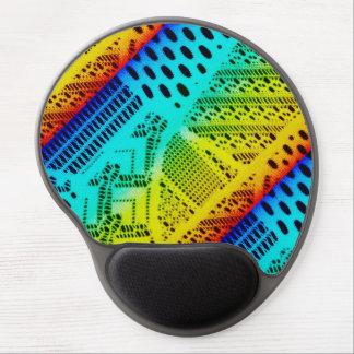 Mouse Pad De Gel Colorido brilhante do laço de néon do arco-íris
