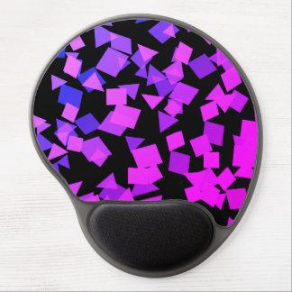 Mouse Pad De Gel Confetes cor-de-rosa e roxos brilhantes no preto