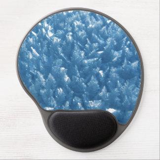 Mouse Pad De Gel Cristais de gelo no azul