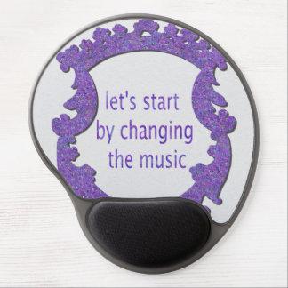 Mouse Pad De Gel deixe-nos começar mudando a música