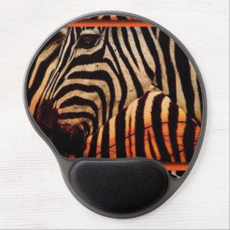 Mouse Pad De Gel Design da zebra & do impressão do teste padrão