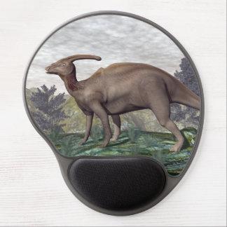 Mouse Pad De Gel Dinossauro de Parasaurolophus - 3D rendem