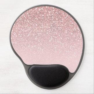 Mouse Pad De Gel Encanto Glam na moda moderno do brilho cor-de-rosa