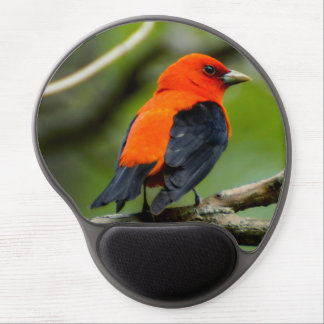 Mouse Pad De Gel Escarlate do gel Mousepad do Tanager
