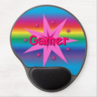 Mouse Pad De Gel Estrelas do Gamer & gel Mousepad do arco-íris