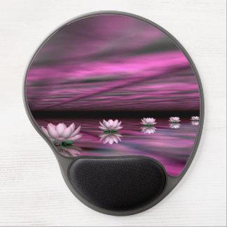 Mouse Pad De Gel Etapas dos lírios de água o horizonte - 3D rendem