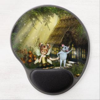 Mouse Pad De Gel Fada bonito e rato branco