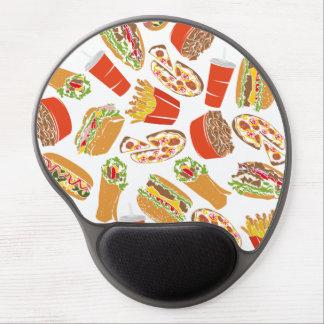 Mouse Pad De Gel Fast food colorido da ilustração do teste padrão