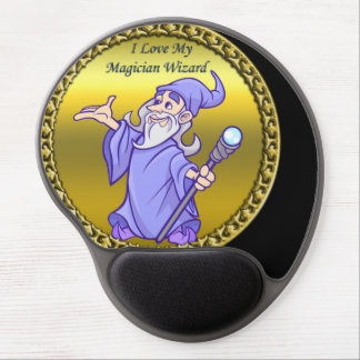 Mouse Pad De Gel Feiticeiro mágico do roxo do sorceress do mágico