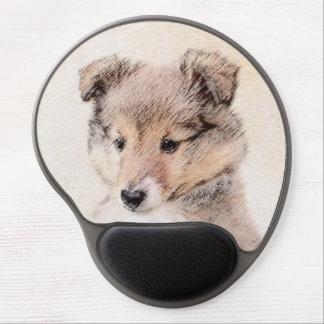 Mouse Pad De Gel Filhote de cachorro do Sheepdog de Shetland que