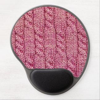 Mouse Pad De Gel Fio cor-de-rosa malha cabografada