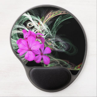 Mouse Pad De Gel Flor cor-de-rosa Fractual