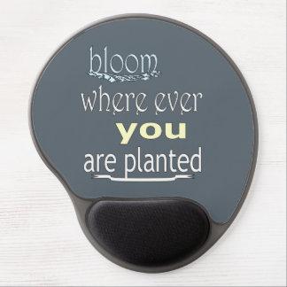 Mouse Pad De Gel Flor onde você é plantado nunca
