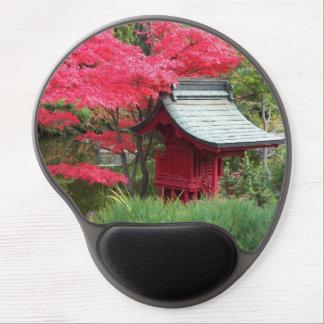 Mouse Pad De Gel Foto japonesa do jardim do outono