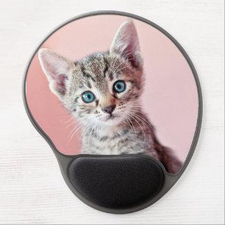 Mouse Pad De Gel Gatinho bonito com olhos azuis