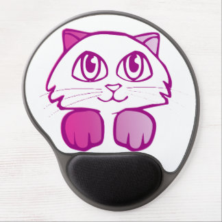 Mouse Pad De Gel Gatinho roxo