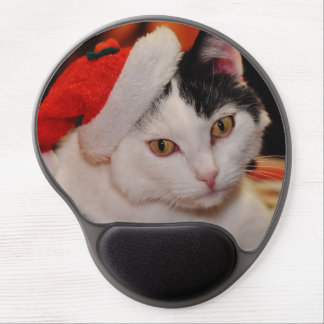 Mouse Pad De Gel Gato de Papai Noel - Feliz Natal - gato do animal