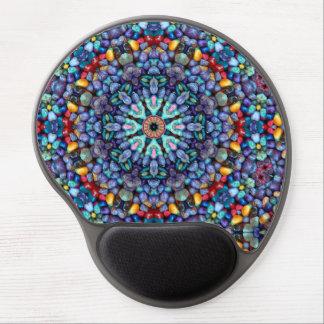 Mouse Pad De Gel Gel de pedra Mousepad do caleidoscópio do vintage