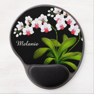 Mouse Pad De Gel Gel floral branco customizável Mousepad da