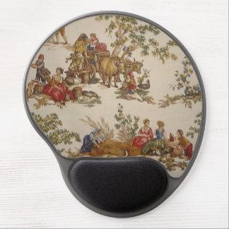 Mouse Pad De Gel Gel francês Mousepad de Toile do país do vintage