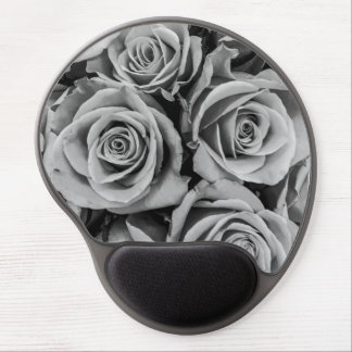 Mouse Pad De Gel Gel monocromático Mousepad dos rosas