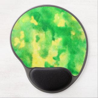 Mouse Pad De Gel Gel Mousepad da aguarela do verde amarelo
