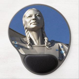 Mouse Pad De Gel Gel Mousepad da estátua da mulher do nativo