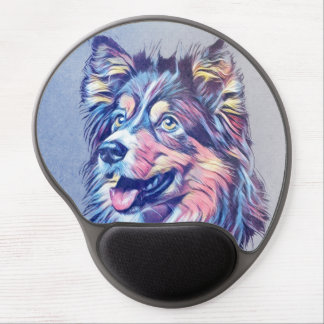 Mouse Pad De Gel Gel Mousepad da pintura do Sheepdog de Shetland