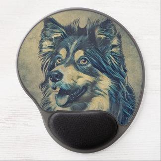 Mouse Pad De Gel Gel Mousepad da pintura do Sheepdog de Shetland