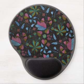 Mouse Pad De Gel Gel Mousepad das flores & das folhas do art deco