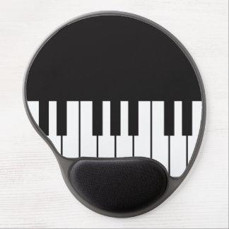 Mouse Pad De Gel Gel Mousepad do teclado de piano