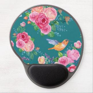Mouse Pad De Gel Gel Mousepad - pássaros, flores e borboletas