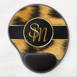 Mouse Pad De Gel Gel precioso Mousepad das iniciais do ouro do