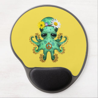 Mouse Pad De Gel Hippie verde bonito do polvo do bebê