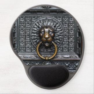Mouse Pad De Gel Leão de Doorknocker - preto/ouro