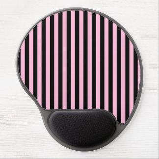 Mouse Pad De Gel Listras finas - preto e algodão doce