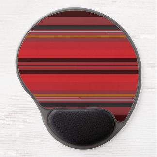 Mouse Pad De Gel Listras - horizonte vermelho