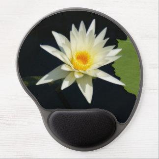 Mouse Pad De Gel Lotus branco Waterlily
