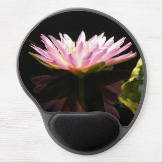 Mouse Pad De Gel Lotus cor-de-rosa Waterlily