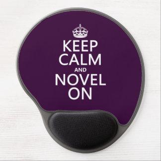 Mouse Pad De Gel Mantenha a calma e a novela sobre