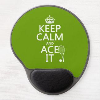 Mouse Pad De Gel Mantenha a calma e Ace a (o tênis) (em alguma cor)