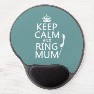 Mouse Pad De Gel Mantenha a mãe da calma e do anel - todas as cores