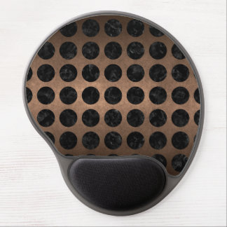 MOUSE PAD DE GEL METAL PRETO DO MÁRMORE CIRCLES1 & DO BRONZE (R)