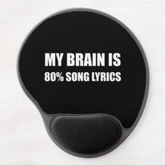 Mouse Pad De Gel Meu cérebro é poemas líricos de uma canção de 80