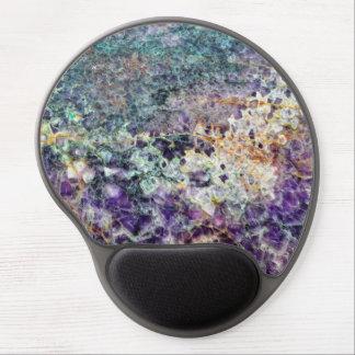 Mouse Pad De Gel mineral de pedra amethyst am da gema da rocha do
