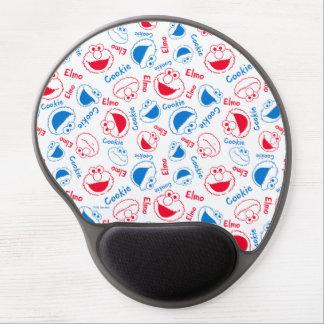 Mouse Pad De Gel Monstro & Elmo do biscoito teste padrão vermelho &