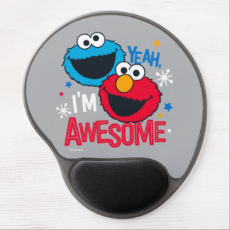 Mouse Pad De Gel Monstro & Elmo do biscoito | yeah, eu sou