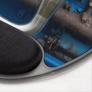 Mouse Pad De Gel Motor azul do trator