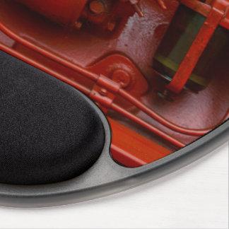 Mouse Pad De Gel Motor vermelho do trator